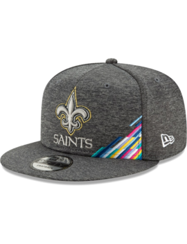 mens-new-orleans-saints-new-era-heather-gray-2019-nfl-crucial-catch-9fifty-snapback-adjustable-hat by nfl