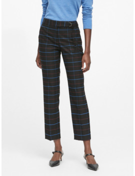 Avery Straight Fit Plaid Pant by Banana Repbulic