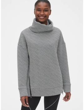 Gap Fit Jacquard Funnel Neck Tunic Sweatshirt by Gap