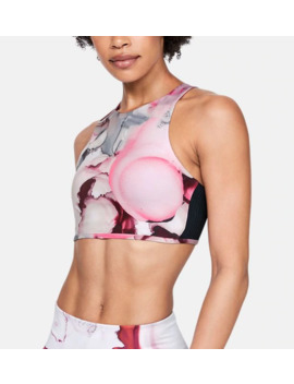 Ua Breathelux Carved Rib Print Women's Sports Bra by Under Armour
