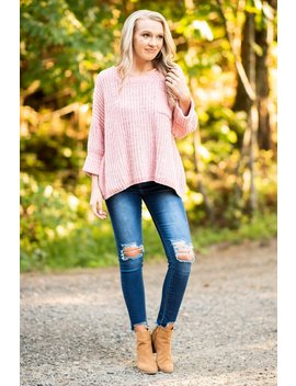 Told You So Pink Chenille Sweater by The Mint Julep Boutique