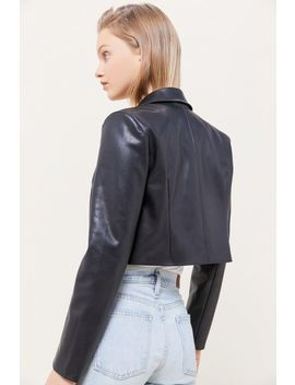 uo-faux-leather-cropped-blazer by urban-outfitters