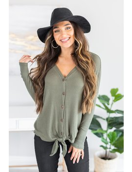 Find Your Place Olive Green Top by The Mint Julep Boutique