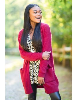 It's All Love Wine Red Knit Cardigan by The Mint Julep Boutique