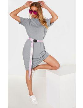 tall-grey-marl-oversized-boxy-midi-t-shirt-dress by prettylittlething