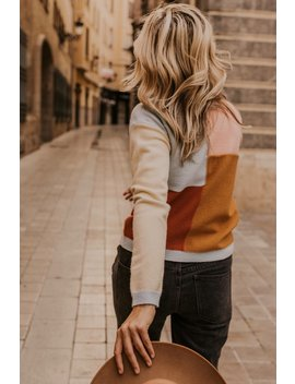 Nadia Colorblock Sweater by Roolee
