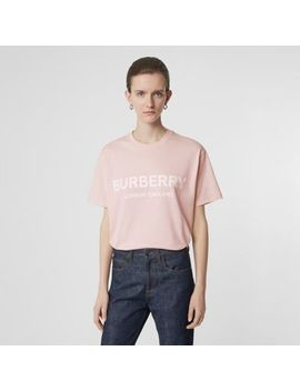Logo Print Cotton Oversized T Shirt by Burberry