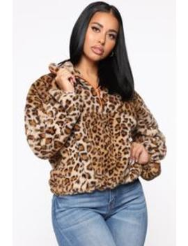 pull-it-together-fuzzy-jacket---brown_multi by fashion-nova