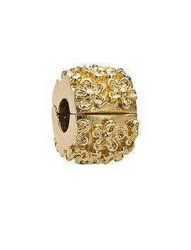 pandora-golden-flower-14k-clip-charm by pandora