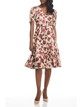 floral-print-fit-&-flare-knee-length-dress by gal-meets-glam