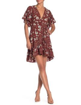 floral-print-wrap-ruffle-dress by max-studio