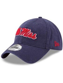 ole-miss-rebels-new-era-team-core-9twenty-adjustable-hat---navy by new-era