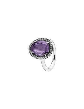 pandora-glamorous-legacy-silver-amethyst-&-cz-ring by pandora