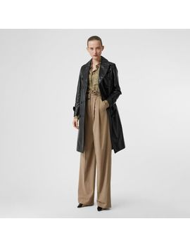 Wool Blend High Waisted Trousers by Burberry