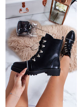 carla-black-faux-leather-hiker-boots by lavish-luxe
