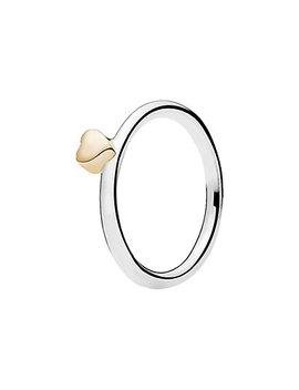Pandora 14 K & Silver Puzzle Heart Ring  by Pandora