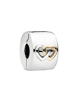 Pandora 14 K & Silver Hearts Aglow Clip by Pandora