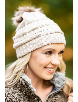 Mountain Moves Tan Knit Beanie by The Mint Julep Boutique