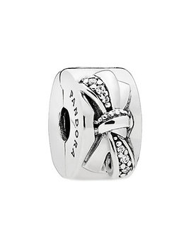pandora-silver-cz-shiny-bow-clip by pandora