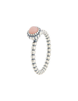 Pandora Silver Pink Opal October Birthday Blooms Ring by Pandora