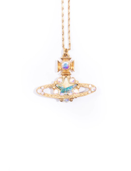 rainbow-crystal-orb-necklace by vivienne-westwood  ×