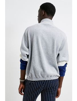 iets-frans…-polar-fleece-quarter-zip-mock-neck-sweatshirt by iets-frans