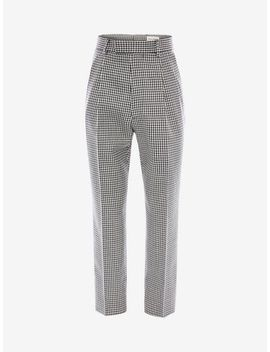 Dogtooth Pants by Alexander Mc Queen