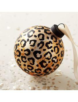 glass-cheetah-ornament by crate&barrel