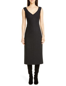 paneled-sleeveless-wool-midi-dress by theory