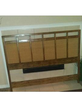 price-reduction-from-35000-to-22500-vintage-mid-century-modern-queen-cane-inlay-drexel-headboard by etsy