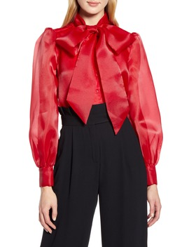 x-atlantic-pacific-bow-collar-blouse by halogen