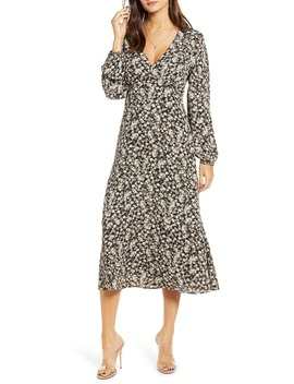 floral-balloon-sleeve-midi-dress by all-in-favor