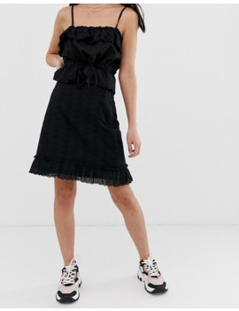 fashion-union-petite-mini-broderie-skirt by fashion-unions