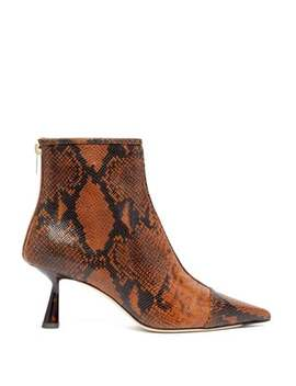 kix-65-python-effect-leather-boots by jimmy-choo