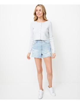 Round Neck Crop Button Cardi by Sportsgirl