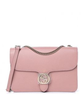 gucci-dollar-calfskin-interlocking-g-shoulder-bag-pink by gucci
