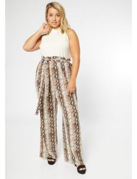 plus-ivory-snakeskin-print-duo-jumpsuit by rue21