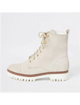 white-suede-lace-up-ankle-boots by river-island