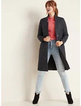 oversized-soft-brushed-herringbone-long-line-coat-for-women by old-navy