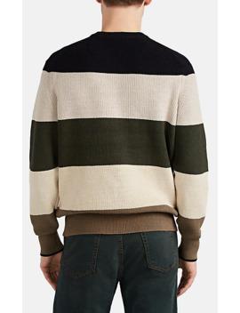 striped-cotton-blend-crewneck-sweater by rag-&-bone