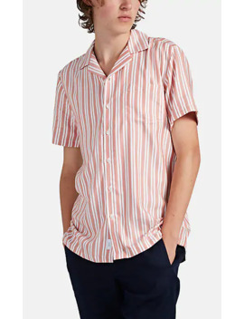 Vacation Double Striped Piqué Shirt by Onia