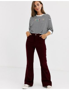 levis-ribcage-high-waisted-flares-in-corduroy by levis
