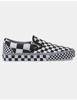 Vans All Over Checkerboard Classic Slip On Shoes by Vans