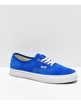 Vans Authentic Pig Suede Princess Blue Skate Shoes by Vans