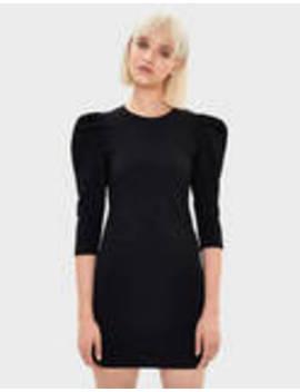 robe-courte-à-manches-bouffantes by bershka