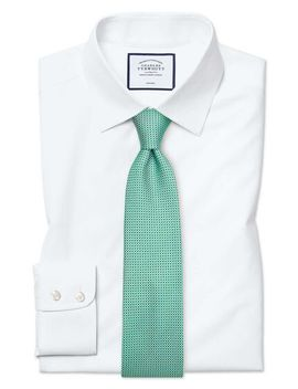 Classic Fit White Non Iron Poplin Shirt by Charles Tyrwhitt