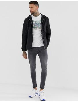 asos-design-hooded-coach-jacket-in-black by asos-design