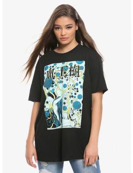 junji-ito-blood-bubble-bushes-girls-t-shirt by hot-topic