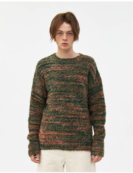 popover-roundneck-sweater-in-red_green-smudge-print by our-legacyour-legacy