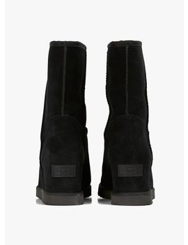 boots-cuir-à-talons-compensés-noir by ugg